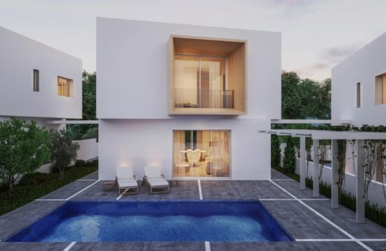 Modern villa is located in Chloraka – beautiful sea views